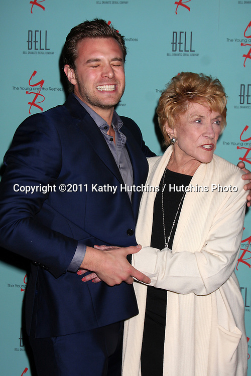 LOS ANGELES - MAR 18:  Billy Miller,  Jeanne Cooper arriving at The Young & the Restless 38th Anniversary Party Hosted by The Bell Family at Avalon Hotel on March 18, 2011 in Beverly HIlls, CA
