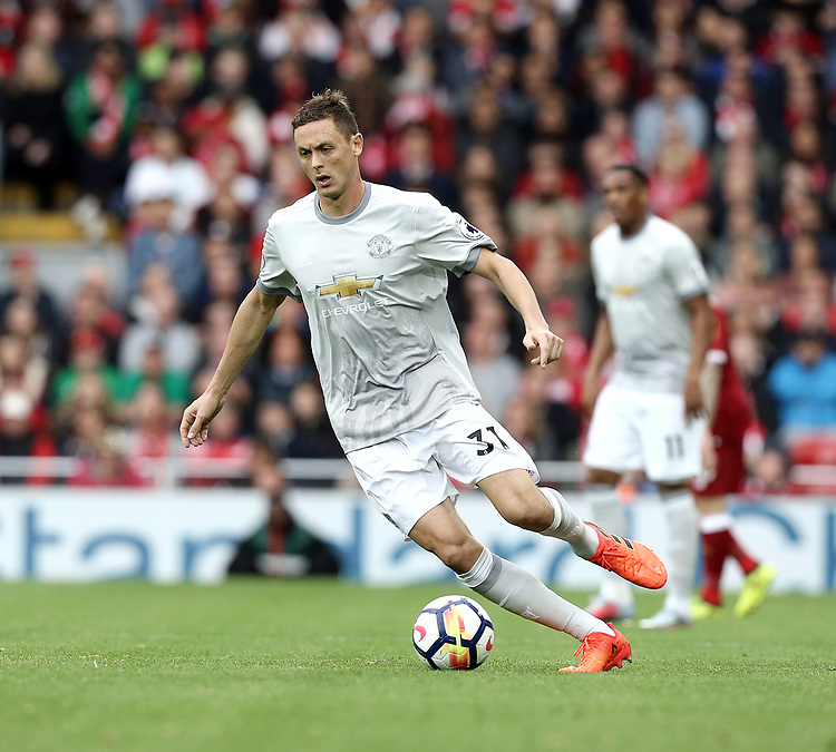 Manchester United's Nemanja Matic<br /> <br /> Photographer Rich Linley/CameraSport<br /> <br /> The Premier League - Liverpool v Manchester United - Saturday 14th October 2017 - Anfield - Liverpool<br /> <br /> World Copyright &copy; 2017 CameraSport. All rights reserved. 43 Linden Ave. Countesthorpe. Leicester. England. LE8 5PG - Tel: +44 (0) 116 277 4147 - admin@camerasport.com - www.camerasport.com