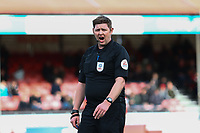 Referee Brett Huxtable  during Crawley Town vs Grimsby Town, Sky Bet EFL League 2 Football at Broadfield Stadium on 9th March 2019