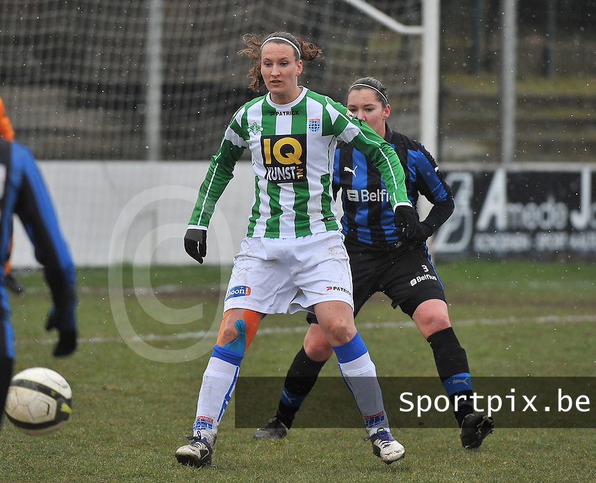 Club Brugge Dames - PEC Zwolle : Lisanne Vermeulen voor Elien Van Wynendaele.foto DAVID CATRY / Vrouwenteam.be