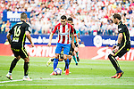 "Atletico de Madrid's player Ángel Martín Correa and Sporting de Gijon's Manuel ""Lillo"" Castellano, Ignacio Cases and Fernando Amorebieta during a match of La Liga Santander at Vicente Calderon Stadium in Madrid. September 17, Spain. 2016. (ALTERPHOTOS/BorjaB.Hojas)"