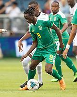KANSAS CITY, KS - JUNE 26: Sheldon Holder #9 during a game between Guyana and Trinidad