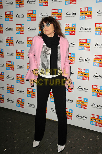 LONDON, ENGLAND - FEBRUARY 18: Chrissie Hynde attending the NME Awards at Brixton Academy on February 18 2015 in London, England.<br /> CAP/MAR<br /> &copy; Martin Harris/Capital Pictures