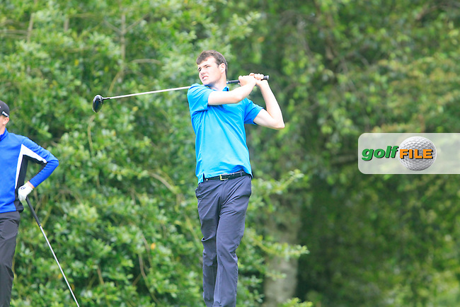 Jake Whelan (Newlands) during the Ulster Youths Amateur Open Championship final at Belvoir Park Golf Club, 73 Church Road, Belfast, County Antrim BT8 7AN, Northern Ireland.  06/08/2015.<br /> Picture: Golffile | Fran Caffrey<br /> <br /> <br /> All photo usage must carry mandatory copyright credit (&copy; Golffile | Fran Caffrey)