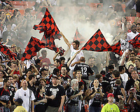 Fans of D.C. United during an MLS match against FC Dallas at RFK Stadium in Washington D.C. on August 14 2010.Dallas won 3-1.