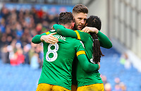 Preston North End's Paul Gallagher, Alan Browne and Daniel Johnson celebrate after the match<br /> <br /> Photographer Alex Dodd/CameraSport<br /> <br /> The EFL Sky Bet Championship - Blackburn Rovers v Preston North End - Saturday 9th March 2019 - Ewood Park - Blackburn<br /> <br /> World Copyright © 2019 CameraSport. All rights reserved. 43 Linden Ave. Countesthorpe. Leicester. England. LE8 5PG - Tel: +44 (0) 116 277 4147 - admin@camerasport.com - www.camerasport.com