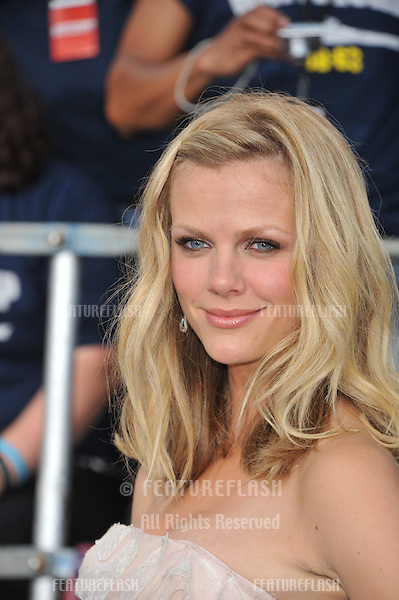 Actress Brooklyn Decker arrives at the premiere of Universal Pictures' 'Battleship' at Nokia Theatre L.A. Live.