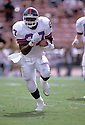 New York Giants Rodney Hampton (27), in action during a game against the Los Angeles Rams on October 18, 1992 at Anaheim Stadium in Anaheim, California, The Rams beat the Giants 38-17.