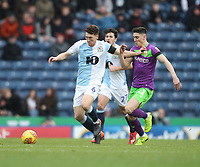 Blackburn Rovers Richard Smallwood  battles with  Bristol City's Marlon Pack<br /> <br /> Photographer Mick Walker/CameraSport<br /> <br /> The EFL Sky Bet Championship - Blackburn Rovers v Bristol City - Saturday 9th February 2019 - Ewood Park - Blackburn<br /> <br /> World Copyright © 2019 CameraSport. All rights reserved. 43 Linden Ave. Countesthorpe. Leicester. England. LE8 5PG - Tel: +44 (0) 116 277 4147 - admin@camerasport.com - www.camerasport.com