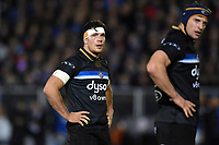 Francois Louw of Bath Rugby looks on during a break in play. European Rugby Champions Cup match, between Bath Rugby and RC Toulon on December 16, 2017 at the Recreation Ground in Bath, England. Photo by: Patrick Khachfe / Onside Images