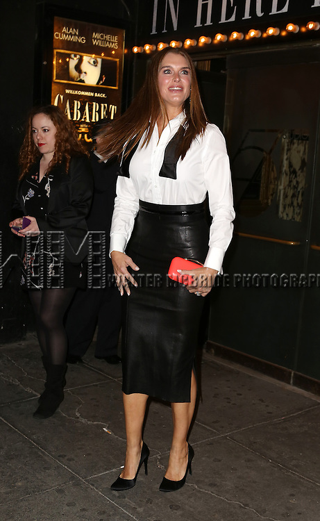 Brooke Shields attending the Broadway Opening Night Performance of 'Cabaret' at Studio 54 on April 24, 2014 in New York City.