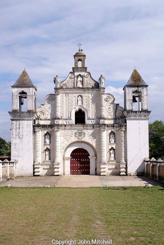The restored 17th century church of La Merced in the Spanish colonial town of Gracias, Lempira, Honduras....