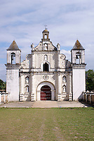 The restored 17th century church of La Merced in the Spanish colonial town of Gracias, Lempira, Honduras....