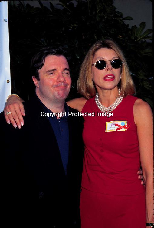 "©KATHY HUTCHINS/HUTCHINS.9/29/97 "" APLA AIDS WALK LOS ANGELES "".NATHAN LANE & CHRISTINE BARANSKI"