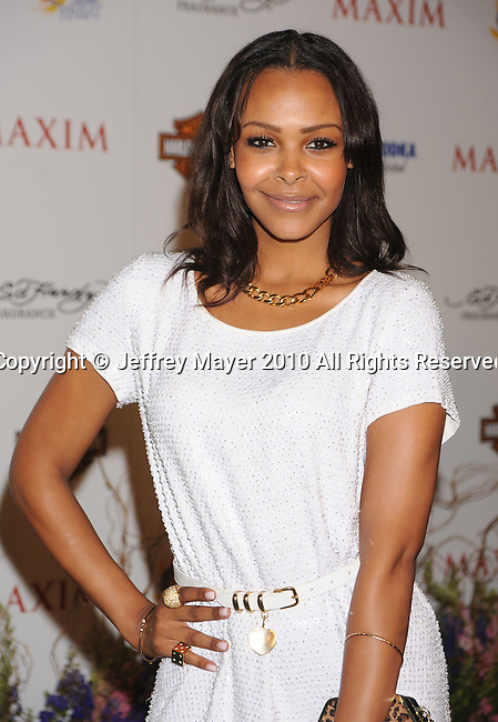 LOS ANGELES, CA. - May 19: Samantha Mumba arrives at the 11th Annual MAXIM HOT 100 Party at Paramount Studios on May 19, 2010 in Los Angeles, California.