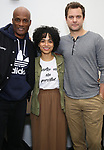 "Kenny Leon, Julee Cerda, Joshua Jackson and Lauren Ridloff attend the cast photo call for the Broadway Revival of  ""Children of a Lesser God"" on February 22, 2018 at the Roundabout Rehearsal Studios in New York City."