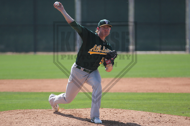 SCOTTSDALE - March 2013:   of the Oakland A's during a Spring Training game against the Arizona DiamondBacks on March 19, 2013 at Salt River Fields in Scottsdale, Arizona.  (Photo by Brad Krause). .