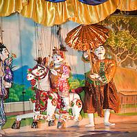 Myanmar, Burma. Bagan.  Burmese Marionettes.