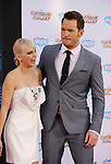 HOLLYWOOD, CA- JULY 21: Actors Anna Faris (L) and Chris Pratt arrive at the Los Angeles premiere of Marvel's 'Guardians Of The Galaxy' at the El Capitan Theatre on July 21, 2014 in Hollywood, California.