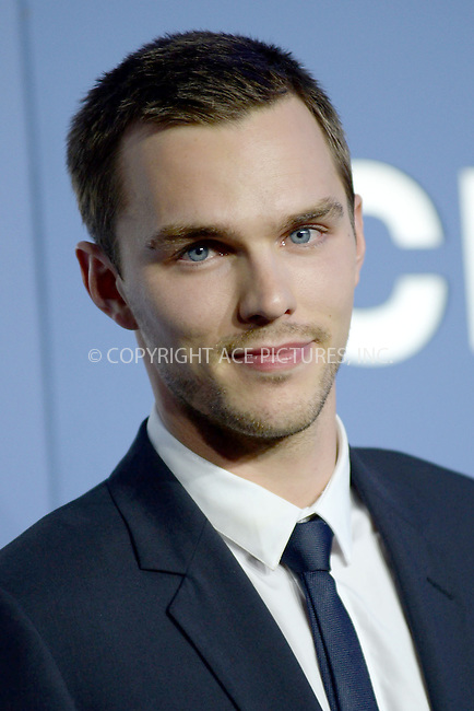 WWW.ACEPIXS.COM<br /> May 10, 2014 New York City<br /> <br /> Nicholas Hoult attending the 'X-Men: Days Of Future Past' world premiere at Jacob Javits Center onMay 10, 2014 in New York City.<br /> <br /> Please byline: Kristin Callahan<br /> <br /> ACEPIXS.COM<br /> <br /> Tel: (212) 243 8787 or (646) 769 0430<br /> e-mail: info@acepixs.com<br /> web: http://www.acepixs.com