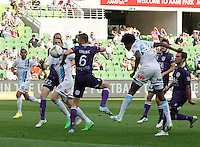 Kew Jaliens  during the  A-League soccer match between Melbourne City FC and Perth Glory at AAMI Park on February 22, 2015 in Melbourne, Australia.