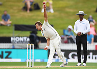 2nd December, Hamilton, New Zealand; Neil Wagner bowling on day 4 of the 2nd test cricket match between New Zealand and England  at Seddon Park, Hamilton, New Zealand.