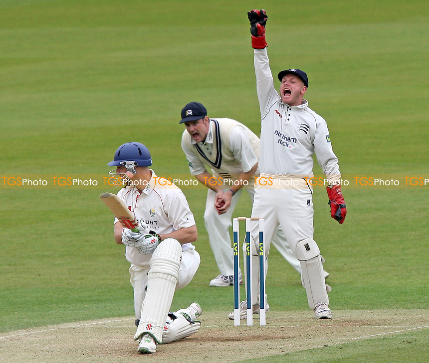 Middlesex wicket keeper David Nash appeals for the wicket of  Alex Wharf of Glamorgan - Middlesex CCC vs Glamorgan CCC - LV County Championship Cricket at Lord's Ground - 25/04/08 - MANDATORY CREDIT: Gavin Ellis/TGSPHOTO - Self billing applies where appropriate - Tel: 0845 094 6026