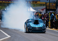 Apr 14, 2019; Baytown, TX, USA; NHRA mountain motor pro stock driver Elijah Morton during the Springnationals at Houston Raceway Park. Mandatory Credit: Mark J. Rebilas-USA TODAY Sports