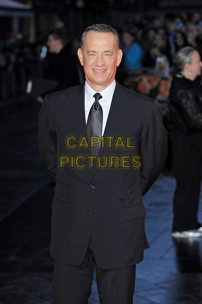 Tom Hanks<br /> attending the 57th BFI London Film Festival Closing Night Gala World Premiere of 'Saving Mr Banks', Odeon Cinema, Leicester Square, London, England. <br /> 20th October 2013<br /> half length black suit tie white shirt <br /> CAP/MAR<br /> &copy; Martin Harris/Capital Pictures