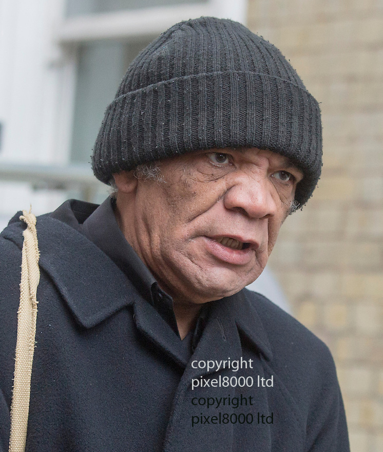 Pic shows: actor Paul Barber who plays Denzil in Only Fools<br /> <br /> <br /> Funeral of Roger Lloyd-Pack - &quot;Trigger&quot; from Only Fools and Horses.<br /> <br /> Mourners arriving at the service at Actors Church in Covent Garden -<br /> <br /> <br /> <br /> <br /> Pic by Gavin Rodgers/Pixel 8000 Ltd