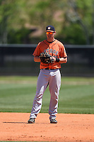 Houston Astros Connor MacDonald (20) during a minor league spring training game against the Atlanta Braves on March 29, 2015 at the Osceola County Stadium Complex in Kissimmee, Florida.  (Mike Janes/Four Seam Images)