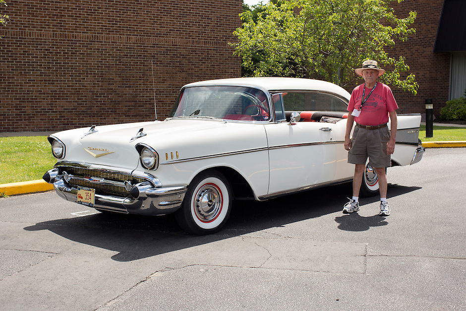 1957 Contemporary Junior (#23) – 1957 Chevrolet Bel Air 2-Door Hardtop registered to Joe True is pictured during 4th State Representative Chevy Show on Thursday, June 30, 2016, in Fort Wayne, Indiana. (Photo by James Brosher)