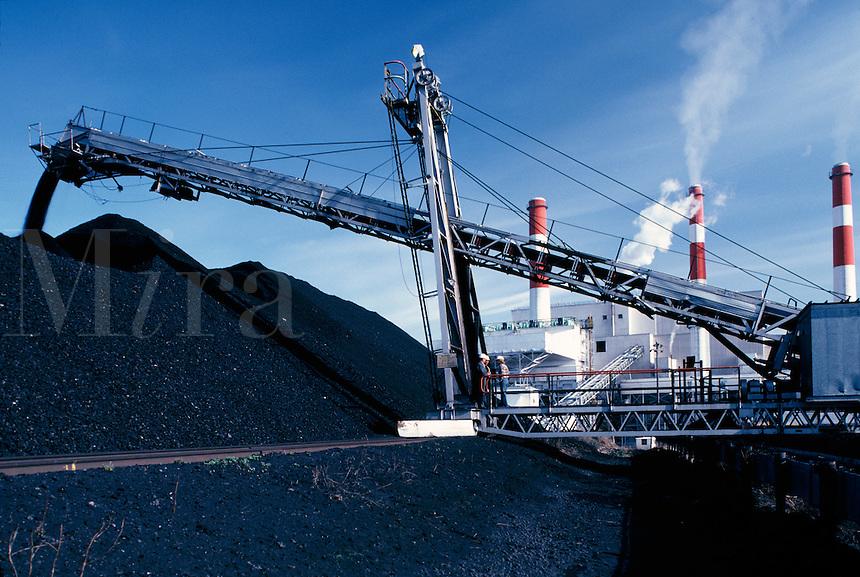 Coal burning power plant  Alberta Canada
