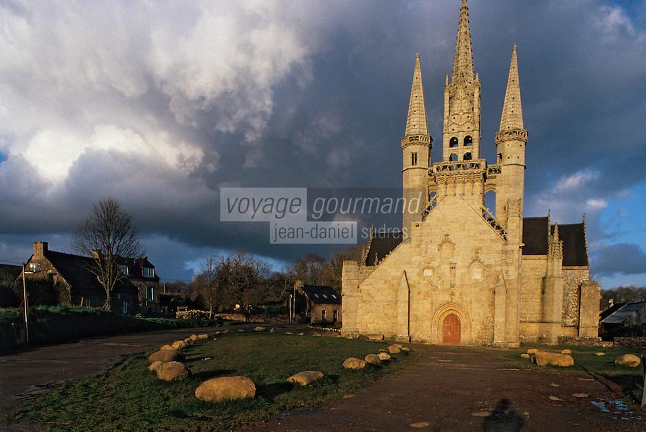 Europe/France/Bretagne/56/Morbihan/Le Faouët: La chapelle Saint-Fiacre (XVème - Architecture gothique)