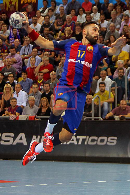 VELUX EHF <br /> 2016/17 EHF Men's Champions League Group Phase - Round 5.<br /> FC Barcelona Lassa vs Telekom Veszprem: 26-23.<br /> Valero Rivera.