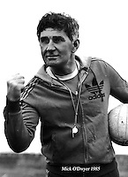 Mick O'Dwyer is fighting form ahead of the 5-in-a-row All-Ireland footbal final in 1982.<br /> Picture by Don MacMonagle