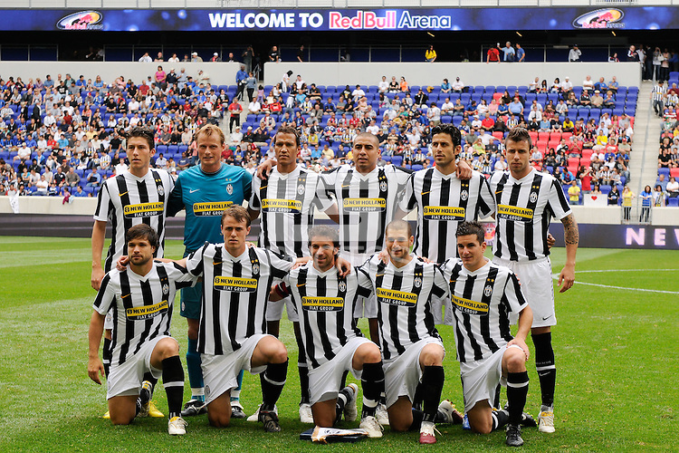 Juventus F. C. starting XI. The New York Red Bulls defeated Juventus F. C. 3-1 during a friendly at Red Bull Arena in Harrison, NJ, on May 23, 2010.