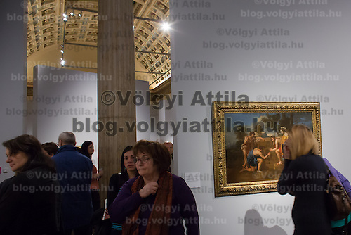 Visitors view the exhibition of French Post-Impressionist painter Paul Cezanne during its last day. More than 180 thousand people saw the exhibition during four month in Budapest, Hungary on February 17, 2013. ATTILA VOLGYI