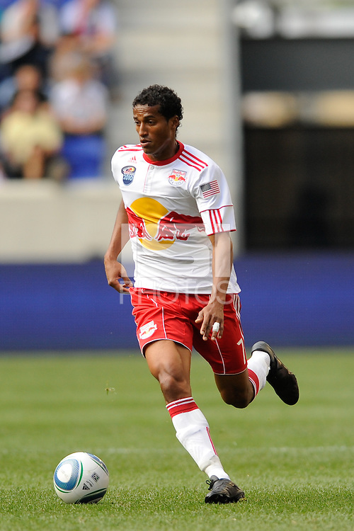 Roy Miller (7) of the New York Red Bulls. The New York Red Bulls defeated the Philadelphia Union 2-1 during a Major League Soccer (MLS) match at Red Bull Arena in Harrison, NJ, on April 24, 2010.