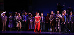 "Vanessa Williams and Carolee Carmello with cast during the final performance curtain call for the New York City Center Encores! at 25 production of  ""Hey, Look Me Over!"" on February 11, 2018 at the City Center Theatre in New York City."