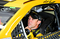 July 15, 2017 - Loudon, New Hampshire, U.S. - Matt Kenseth, Monster Energy NASCAR Cup Series driver of the Dewalt Flexvolt Toyota (20), sits in his car before the NASCAR Monster Energy Overton's 301 practice round held at the New Hampshire Motor Speedway in Loudon, New Hampshire. Larson placed first in the qualifier. Eric Canha/CSM