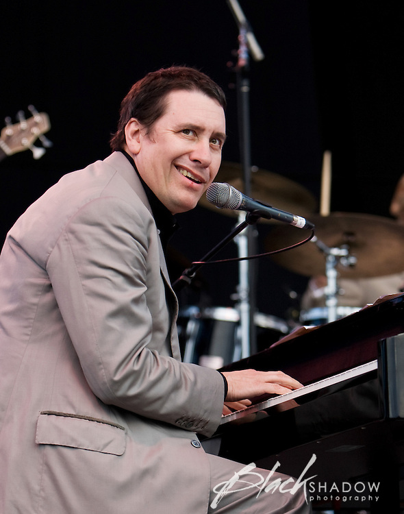 Piano man extraordinaire Jools Holland at the Point Nepean music festival