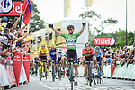 Green Jersey Peter Sagan (SVK) Bora-Hansgrohe wins Stage 5 of the 2018 Tour de France running 204.5km from Lorient to Quimper, France. 11th July 2018. <br /> Picture: ASO/Pauline Ballet | Cyclefile<br /> All photos usage must carry mandatory copyright credit (&copy; Cyclefile | ASO/Pauline Ballet)