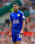 Riyad Mahrez of Leicester City  during the Premier League match at Old Trafford Stadium, Manchester. Picture date: September 24th, 2016. Pic Sportimage