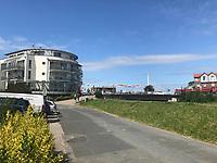 Blick am Kajedeich in Bensersiel - Werdum 24.07.2020: Haustierpark Werdum