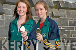 MEDALS: Showing off their Gold Medal and Sliver medal were Sarah Fitzgerald (Gold Ardfert) and Aoife Crowley (Fenit) who won Sliver in which they won in the Childrens International Games in Scotland their sport was Golf...