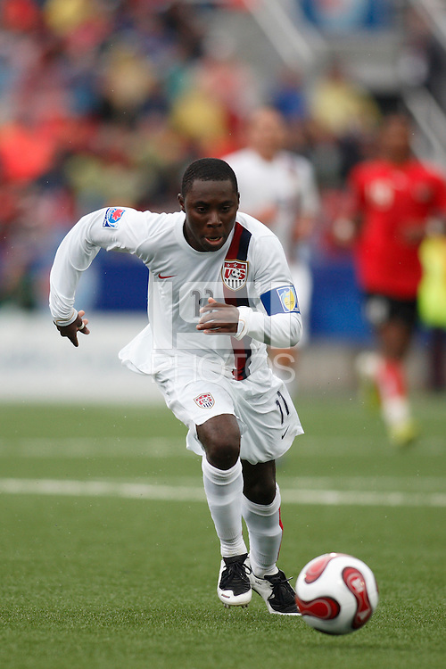 USA midfielder (11) Freddy Adu. Austria (AUT) defeated the United States (USA) 2-1 in overtime of a FIFA U-20 World Cup quarter-final match at the National Soccer Stadium at Exhibition Place, Toronto, Ontario, Canada, on July 14, 2007.