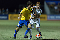 LAKEWOOD RANCH, Florida – Sunday, December 6, 2015: The U.S. Men's National team U-17s fall to Brazil 3-0 during the 2015 Nike International Friendlies at Premier Sports Campus.