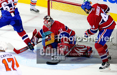 7 December 2009: Montreal Canadiens' goaltender Carey Price makes a third period save against the Philadelphia Flyers at the Bell Centre in Montreal, Quebec, Canada. The Canadiens rallied, and defeated the Flyers 3-1. Mandatory Credit: Ed Wolfstein Photo