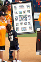 SAN ANTONIO, TX - APRIL 25, 2009: The University of Texas at San Antonio Roadrunner Softball team retires the jersey of former player #31 Hope Ortiz at Roadrunner Field. (Photo by Jeff Huehn)